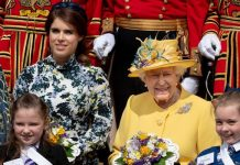 Princess Eugenie with her grandmother the Queen Image GETTY