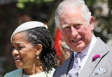 Proud grandparents Doria Ragland and the Prince of Wales Image Brian Lawless