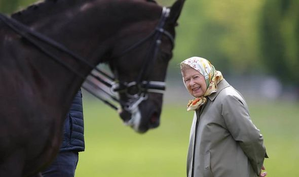 Queen news Her majesty attended the Royal Windsor Horse show again today Image PA