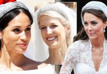 Royal Wedding Lady Gabriella Windsor tiara vs Meghan Kate an Eugenie's Image GETTY