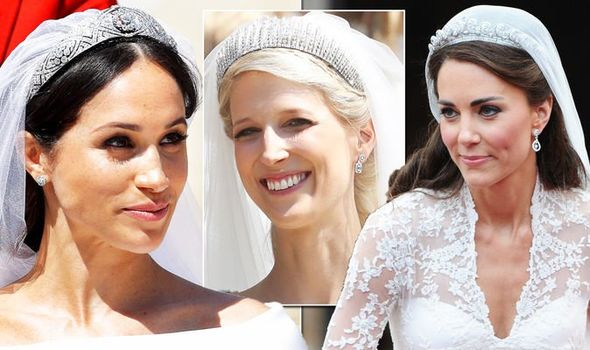 Royal Wedding Lady Gabriella Windsor tiara vs Meghan Kate an ...