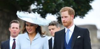 Royal Wedding Sophie Winkleman and Prince Harry arrived at the wedding both wearing blue Image PA