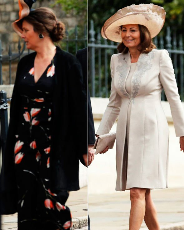 Royal wedding Carole Middleton arrives in stunning cream jacket and matching dress Image PA