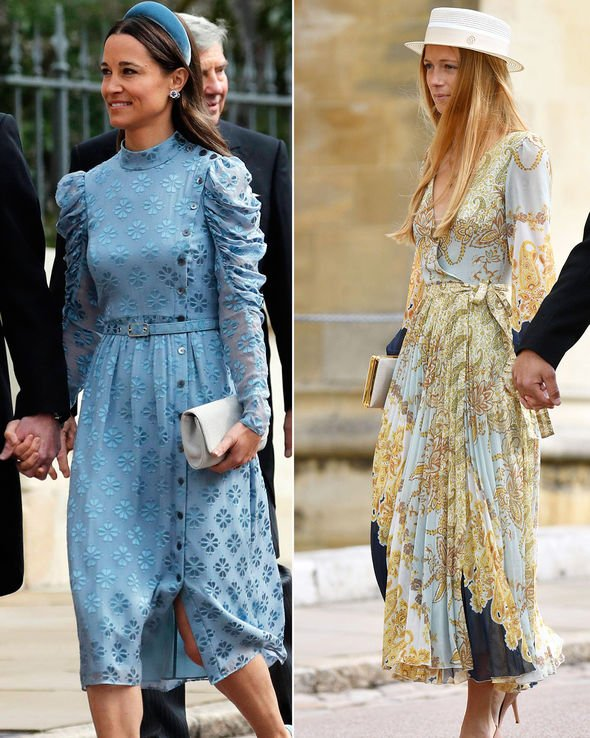 Royal wedding Pippa Middleton and Alizee Thevenet arrive at the wedding Image PA