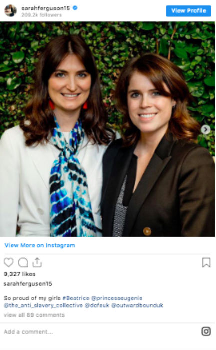 Sarah Fergusons sweet tribute to her daughters Photo C INSTAGRAM