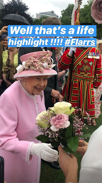 Security were shocked that the Queen stopped to accept the flowers Photo C Getty Images