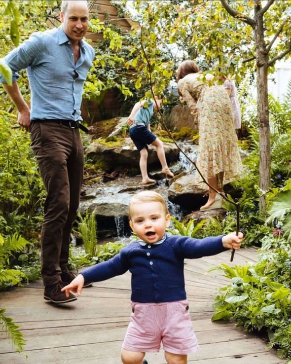 The Cambridges brought their George Charlotte and Louis to explore their mums wilderness garden Image Kensington Palace