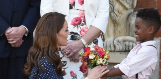The Duchess of Cambridge revealed Louis is keeping her and William on their toes during a conversation at Bletchley Park yesterday Pictured Kate during the engagement