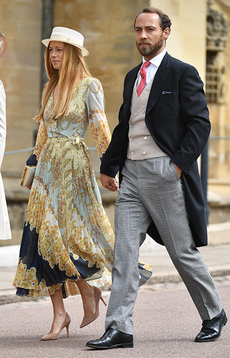 The Duchess of Cambridges brother arrives at Windsor Castle with his girlfriend Alizee Thevenet Photo C iimage