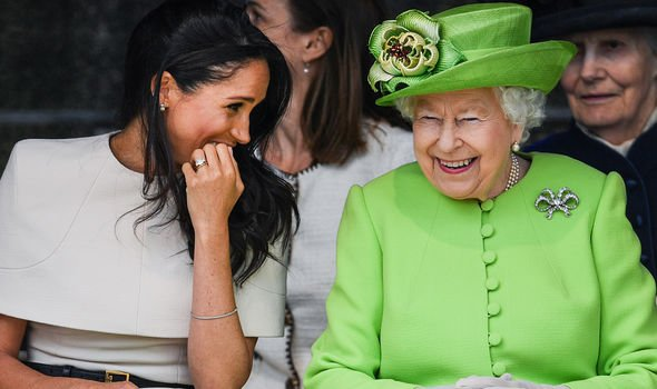 The Queen and Meghan seem very close Image GETTY