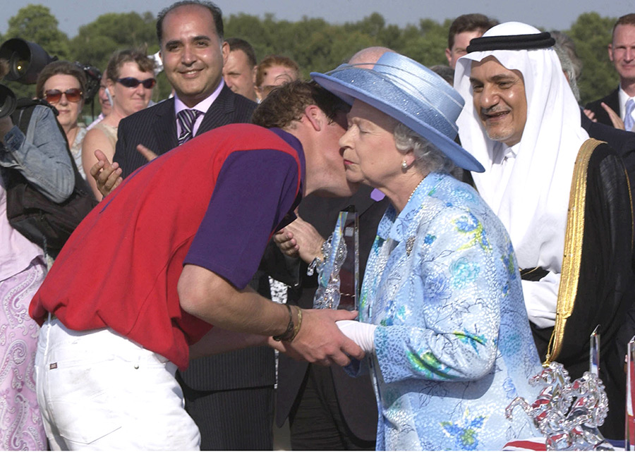 The Queen and Prince William Photo C Getty Images