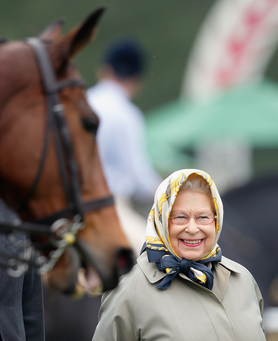 The Queen at the Windsor Horse Show in Photo C GETTY IMAGES
