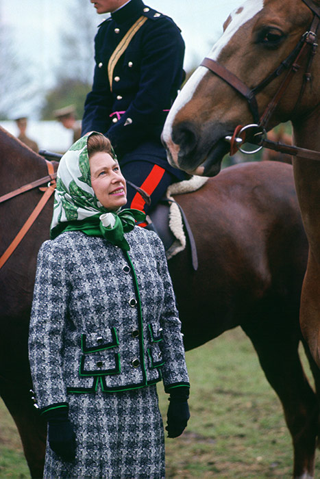 The Queen attends the Windsor Horse Show in the s Photo C GETTY IMAGES