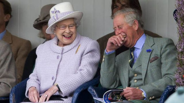 The Queen made a pretty hilarious joke about Kate Middleton and Prince William yesterday Photo C GETTY IMAGES