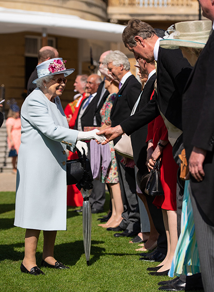 The Queen met guests at Tuesdays garden party Photo C Getty Images