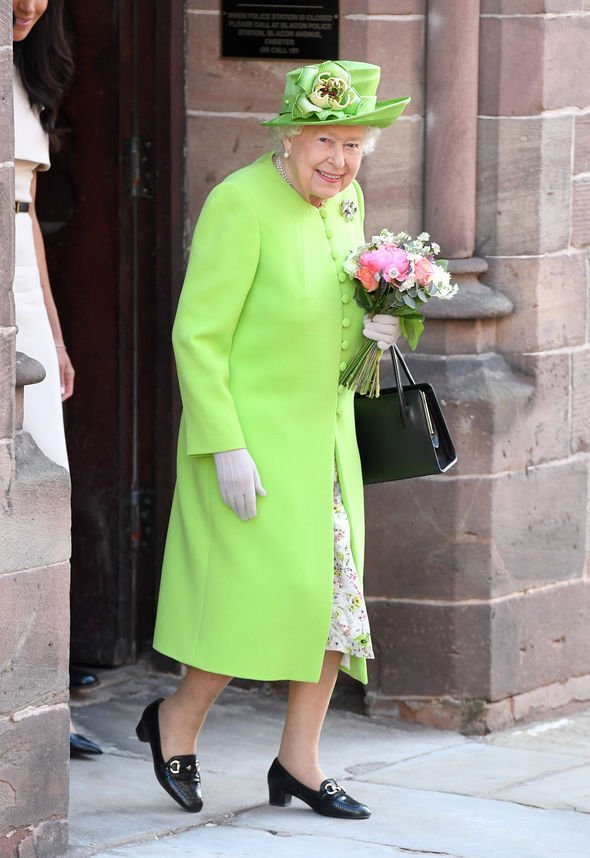 The Queen reportedly never creases her clothes Image GETTY