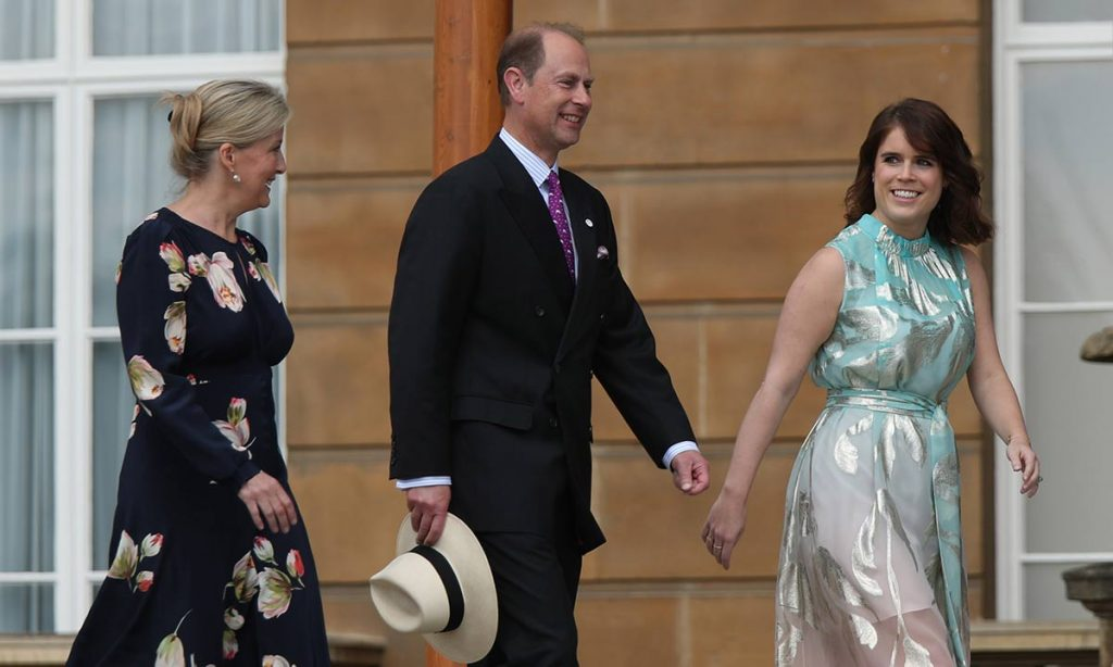 The royal was joined by Sophie and Edward at Buckingham Palace Photo C Getty Images