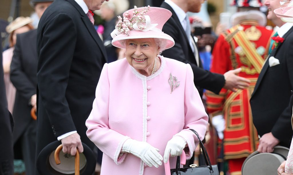 Watch the moment the Queen sweetly broke her own protocol at garden party Photo C Getty Images