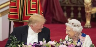 President Donald Trump and Melania join Her Majesty and the Duke and Duchess of Cambridge at State Banquet