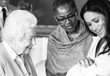 Archie Harrison christening The Queen meeting Archie in May as Meghans mum looks on Image @SussexRoyal