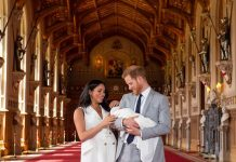 Archie Harrison christening The couple have fiercely guarded their privacy since Archie's birth Image Getty