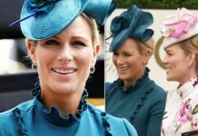 Ascot Zara Tindall and Autumn Phillips lead 'fun carriage' Image GETTY