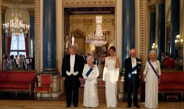 Buckingham Palaces interior was shown off to slendid effect at this months state banquet Image Getty