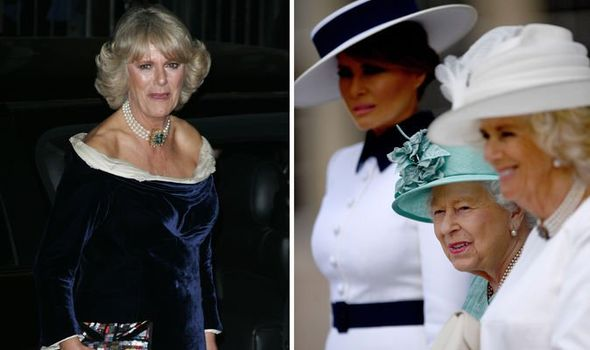 Camilla Duchess of Cornwall met Donald and Melania Trump in Image Getty