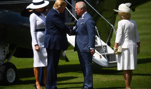 Camilla and Charles with Donald and Melania Trump today Image Getty