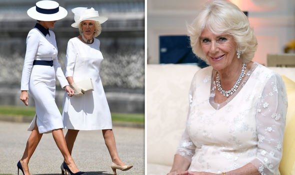 Camilla followed the Queens lead on furhter engagaements during the state visit Image Getty