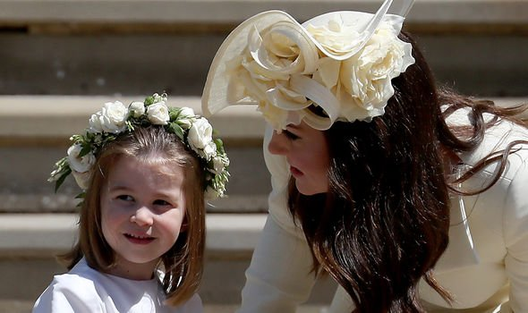 Charlotte with mother Kate Image GETTY