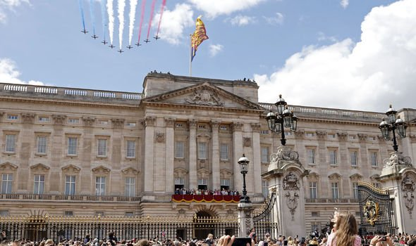 Crowds gather at Buckingham Palace for this years Trooping the Colour Image Getty