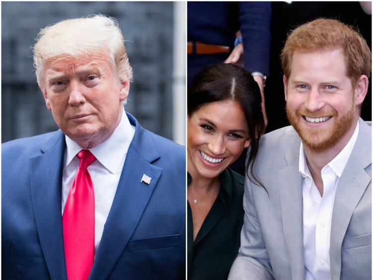 Donald Trump called Meghan Markle nice and said Prince Harry is a terrific guy despite rumours the royal avoided him at Buckingham Palace Phot C Getty Images