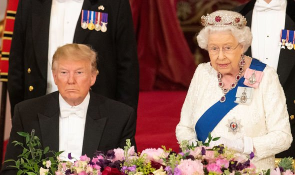 Donald Trump had dinner at the palace Image Getty
