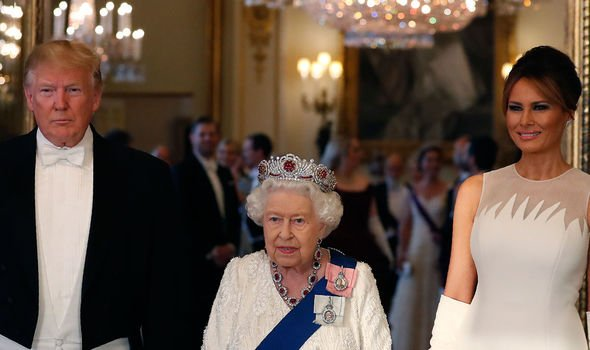 Donald Trump met the Queen at Buckingham Palace Image Getty