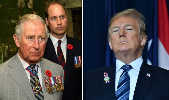 """Donald Trump was reportedly """"deliberately snubbed"""" by both Prince William and Prince Charles Image GETTY"""