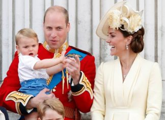 EXCITED Princess Charlotte was double waving on the balcony Pic GETTY