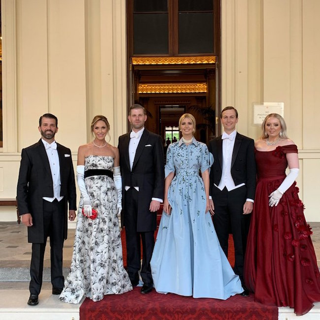 Eric Trump shared this family photograph on Instagram Photo C Getty Images