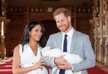 Harry and Meghan welcomed their first child Archie Harrison Mountbatten Windsor in May Image GETTY