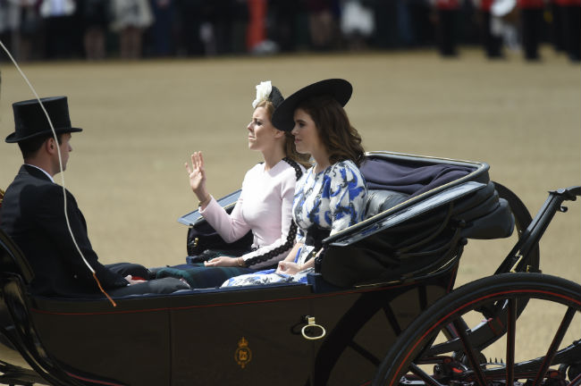 Jack was with Princess Eugenie and Princess Beatrice in the carriage Photo C Getty Images