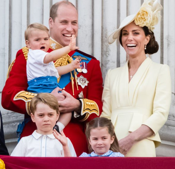 Kate Middleton Kate Middleton looked very happy alongside her husband and children Image GETTY