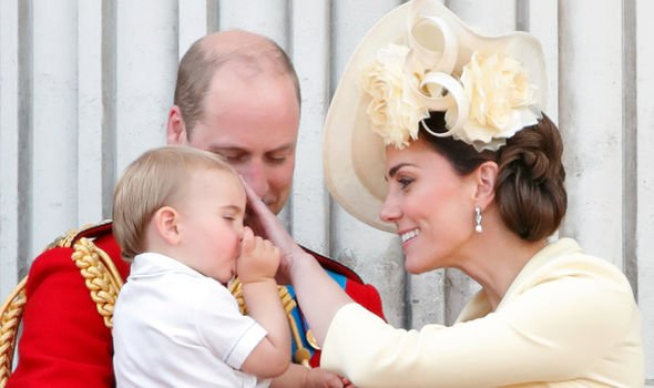 Kate Middleton Prince Louis was caught sucking his thumb during the parade Image GETTY