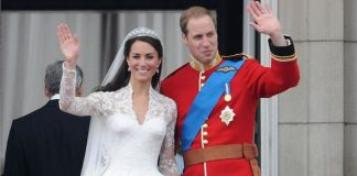 Kate Middleton and Prince Williams wedding day in Image Getty