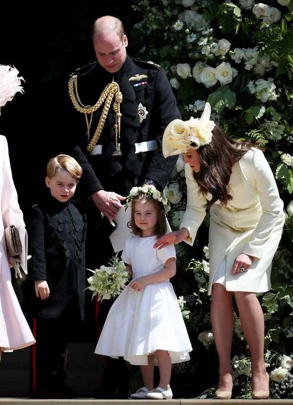 Kate Middleton children The Cambridge siblings at Prince Harrys wedding Image GETTY