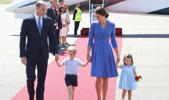 Kate Middleton family shock Prince William and his son cannot travel together Image GETTY