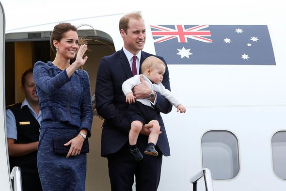 Kate Middleton family shock The Cambridge couple arrive in Australia with young Prince George Image HAGEN HOPKINS GETTY