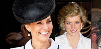 Kate Middleton news Duchess of Cambridge wears Princess Diana wedding earrings Image GETTY