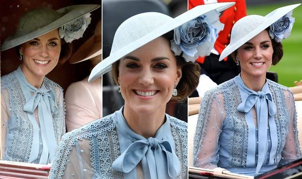 Kate Middleton news The Duchess of Cambridge looked elegant in blue at Royal Ascot today Image PA REX REUTERS
