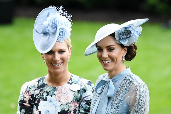 Kate Middleton news Zara Tindall wore a hat in the same shade as the Duchess of Cambridge Image REX