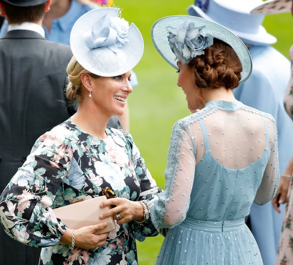 Kate Middleton pregnant Kate seemed at ease with Zara Tindall Image GETTY